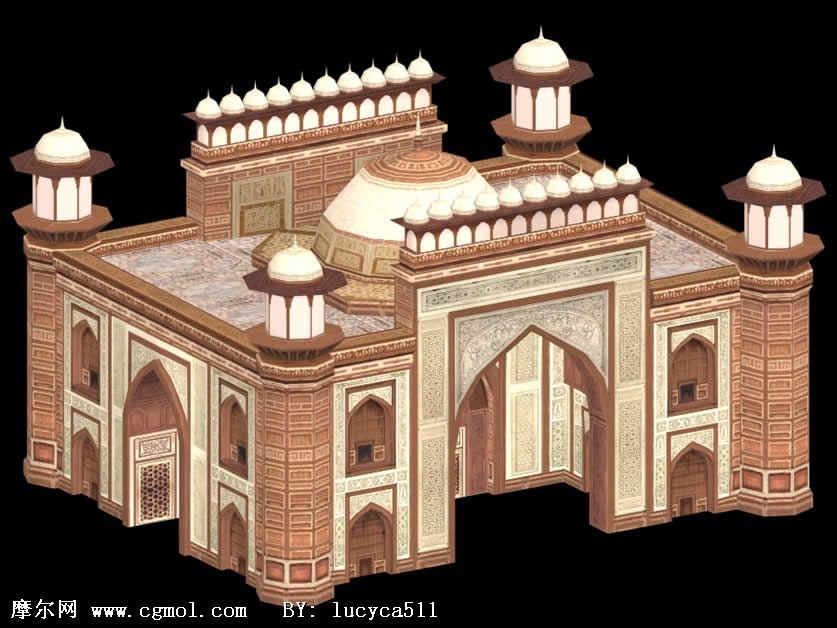 古代西方的皇宫建筑3D模型