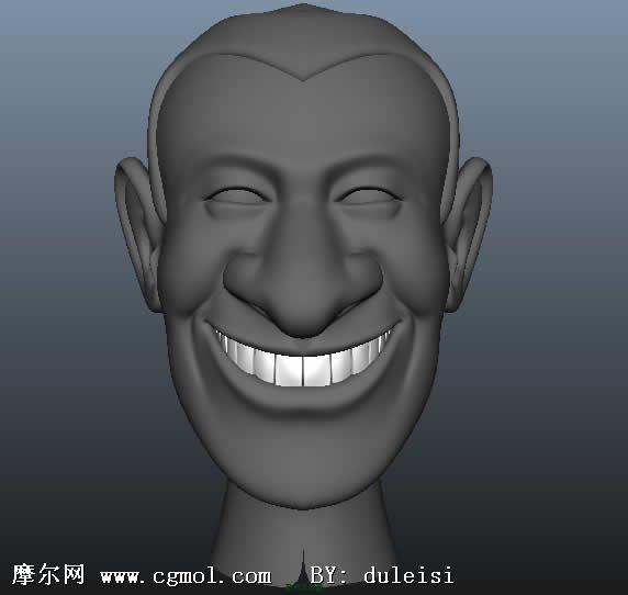 球星齐达内的头部,maya漫画卡通模型 卡通角色 动画角色高清图片