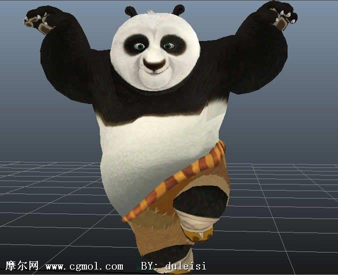 功夫熊猫 maya卡通角色模型 高清图片
