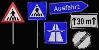 交通道路指示牌3D模型