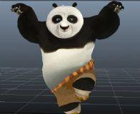 功夫熊猫,maya卡通角色模型