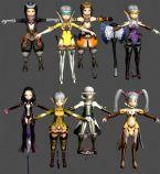 龙之谷战士,法师,牧师,弓箭手转职职业角色3D模型