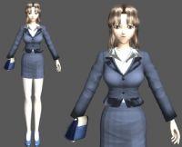 职业女性角色3D模型