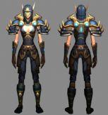 《WOW魔兽世界》盗贼第九套装的模型,3D游戏角色模型
