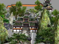 诛仙2青云山场景3D模型