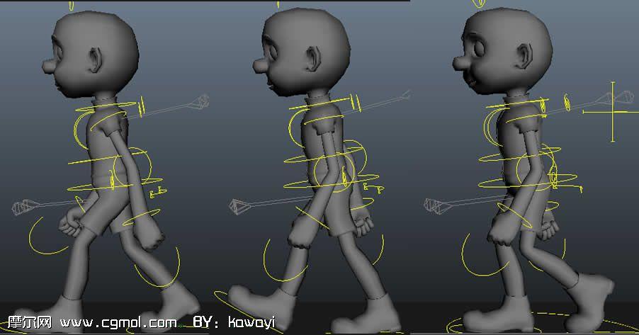 卡通小孩(已绑定,带走路动画)3D模型