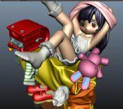 可爱卡通美女,maya模型