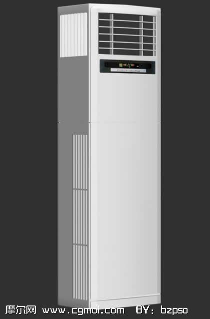 立式空调,竖式空调3d模型