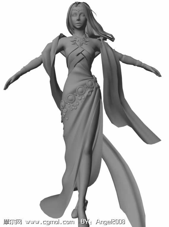 古代美女3D模型 历史角色 动画角色