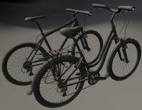 两辆自行车,MAYA模型