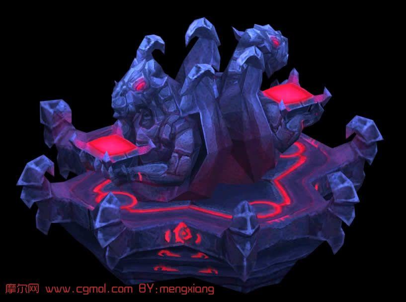 《火炬之光》的祭坛,3D游戏场景模型