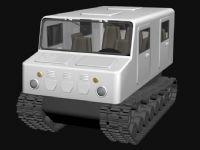 雪地救护车,救援车3D模型