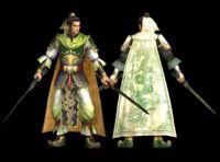 《真三国无双5》手持双剑的刘备,3D游戏角色模型