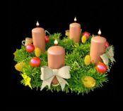圣诞花环 蜡烛3D模型
