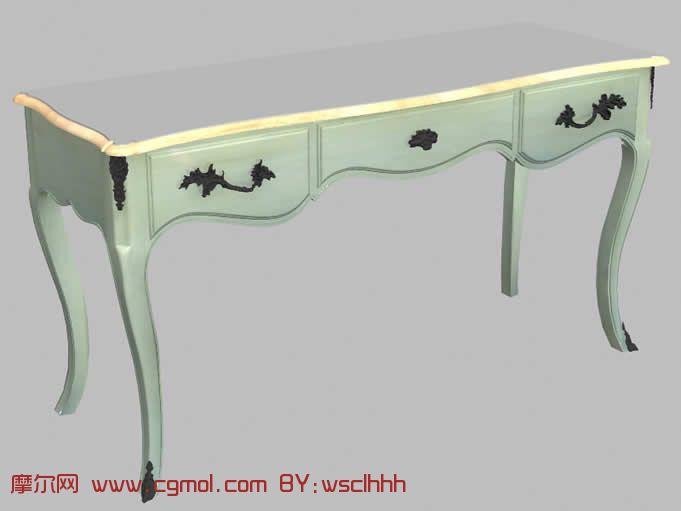 古式花纹桌子3d模型