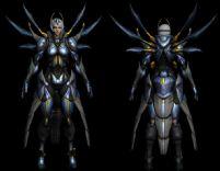 超酷的游戏女性角色3D模型