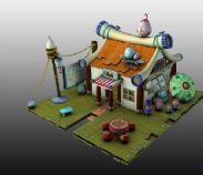 卡通小屋3D模型