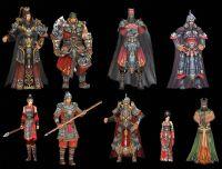 剑侠情缘9个NPC角色3D模型