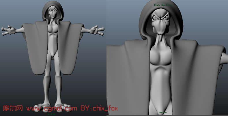 巫师,maya卡通角色模型 卡通角色 动画角色高清图片