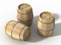 木制酒桶3D模型
