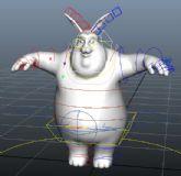 做好了精细绑定的Rabbit可爱卡通兔子,maya模型