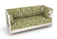 花藤花纹的沙发床3D模型