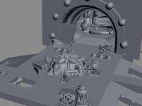变形金刚基地场景3D模型