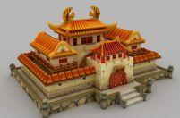 卡通皇宫,卡通小屋3D模型