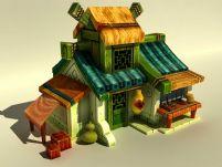 卡通小屋,店铺,酒店3D模型