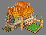 卡通游戏建筑3D模型
