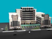 办公大楼,写字楼整体设计3D模型