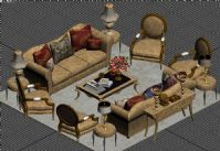 3D欧式客厅
