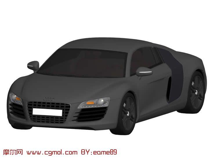 奥迪r8汽车3d模型