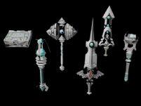 《龙之谷》中的一些武器 战锤,剑,法杖3D模型