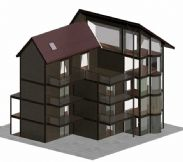 风景小苑,楼层别墅3D模型