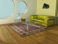 客厅 沙发 玻璃桌子3D模型