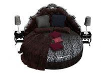 欧式奢华沙发床,家居3D模型