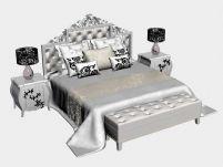 欧式家具,床,家居3D模型