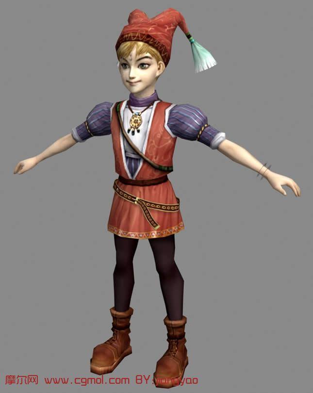 戴帽子的可爱女孩3d模型