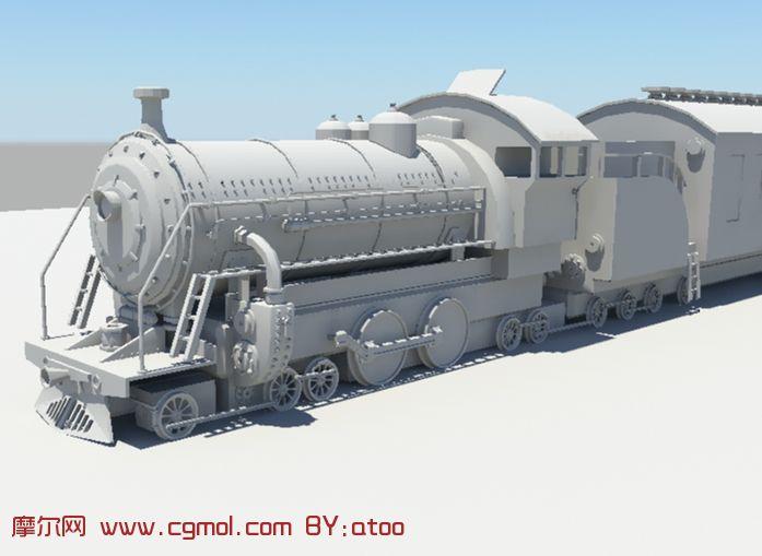 火车头,maya模型