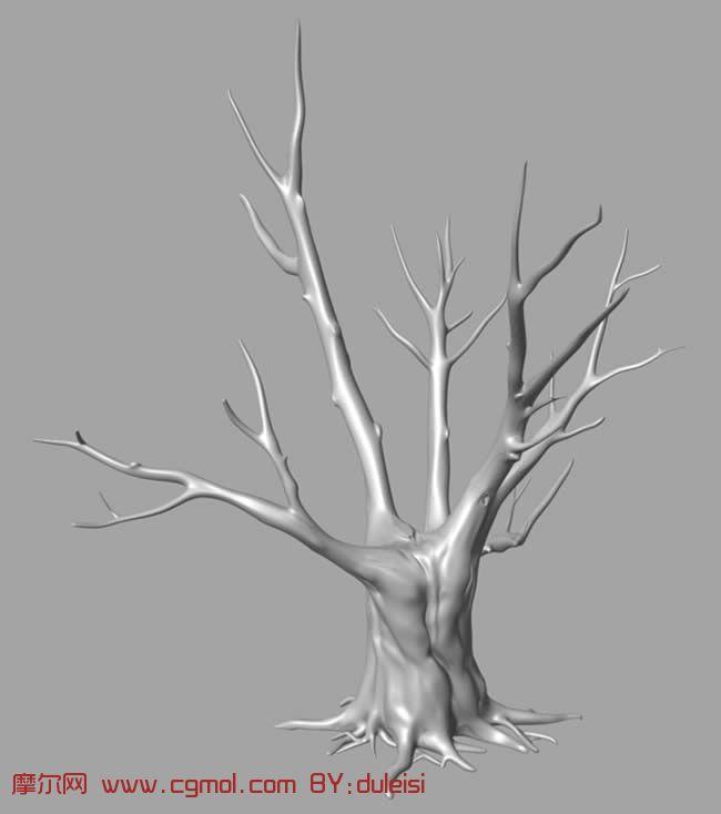 枯树,树枝的maya模型