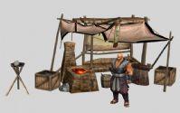 剑侠情缘3 武器商和铁匠铺子3D模型