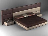 简约时尚床铺3D模型