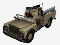 路虎老式卡车3D模型