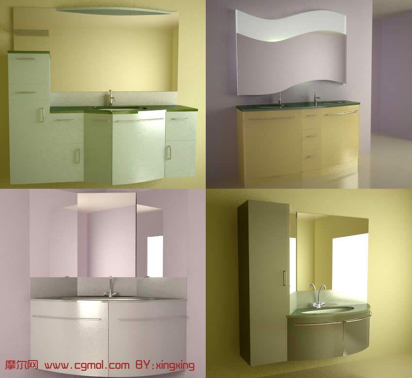 洗手间,洗手池3D模型七