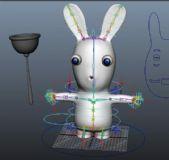 可爱的流氓兔maya模型(带绑定)