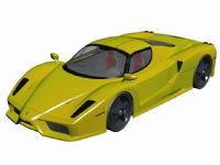 一辆黄色跑车3D模型