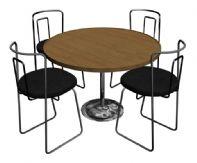 圆形餐桌和椅子3D模型