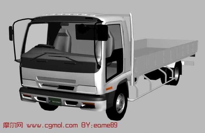 转载作品 ISUZU中型卡车3D模型高清图片