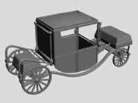 古代欧式马车3D模型